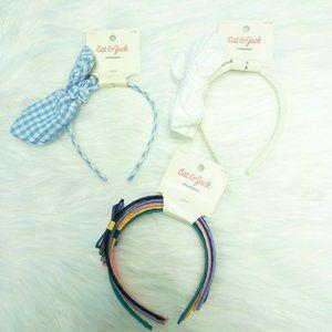 7 Cat & Jack Multicolor Bow Ribbon Headband
